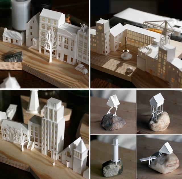 【新闻分享】超惊艳 纸雕建筑物动起来