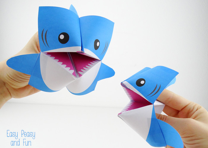 栩栩如生的鲨鱼纸偶就完成罗~ 完整制作方式连结底加 ↓ http://www.